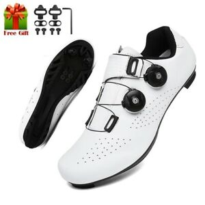 Men Cycling Sneaker Flat Shoes Cleat Self-Locking Mountain Bike Shoes Women Road