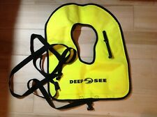 """Deep See Fluorescent Yellow Snorkeling Vest 15 lb approximate Buoyancy 21.5"""" L"""
