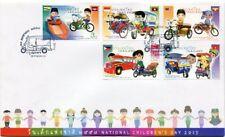 THAILAND STAMP 2015 NATIONAL CHILDREN'S DAY ASEAN TRANSPORT FDC