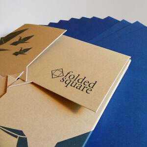 Blue Origami Paper   100 Sheets, 15cm Square   Pantone 301