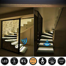 "47"" LED Home Neon Strip Under Bed Light Activated Motion Sensor Plug Warm White"