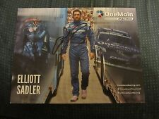 Elliott Sadler Driver Autographed Signed 8.5X11 Photo NASCAR Racing