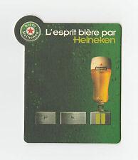 ★ HEINEKEN ★ Esprit Bière #2 Sous bock coaster deckel