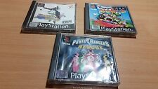 PS1 Playstation 1 - Track & Field Power Rangers Theme Park World Bundle