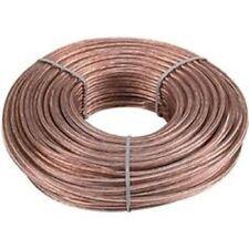 Car Home Audio Clear Flex 50 Feet True 16 Gauge AWG Speaker Wire Cable Spool