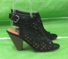 """new ladies black 3.5""""Block High Heel Open Toe back Strap Sexy Shoes Size  5"""