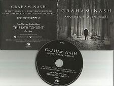 GRAHAM NASH Another Broken heart RADIO EDIT PROMO DJ CD single Crosby Stills
