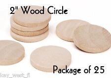 "CIRCLE ~ 2"" ~ Wood Cutout Craft Shape ~ Unfinished { Lot of 25 } ~ by PLD"