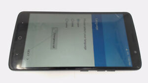 ZTE Max XL N9560 (Gray 16GB) Boost Mobile CRACKED GLAS/LCD BROWN STAINS
