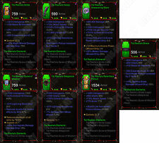 Diablo 3 RoS XBOX ONE [SOFTCORE] All Four Primal Wizard Class Sets Max Stat