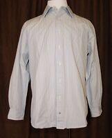 Tommy Hilfiger 80s 2 Ply Dress Shirt Multi Color Striped Large L