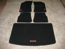 Tapis de voiture en noir pour s' adapter PEUGEOT 205 + gti logo en rouge + Tapis de démarrage