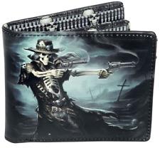 WALLET SKULL GUNSLINGER FOLDING VISA CARDS (not leather) LEATHERETTE NEW