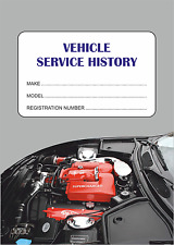 Vehicle Service Book - Blank History Log Maintenance Record Replacement.