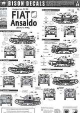 Bison Decals 1/35 FIAT ANSALDO CV-35 Hungarian 35M Light Tank