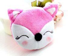 New Cartoon Plush Pink Fox Coin Bag Pouch