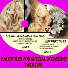 LEARN HAIR STYLES FOR SPECIAL OCCASIONS EASY TO FOLLOW TUTORIAL 2-DVDs WEDDINGS