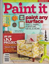 PAINT IT MAGAZINE Country Collectables #81 2014, PREMIER ISSUE,Paint Any Surface