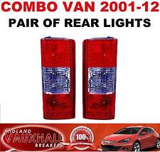 COMBO VAN PAIR REAR BACK TAIL LIGHTS LAMPS DRIVERS & PASSENGER SIDE DI CDTI