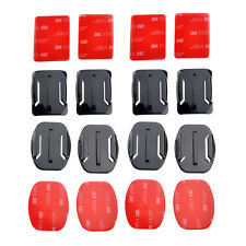 8pcs Flat Curved Surface Mounts & 3M Adhesive for Go Pro GoPro HD Hero 3+ 3 2 1