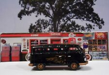 GREENLIGHT VOLKSWAGEN BUS IN BLACK WITH GOLD FLAMES LIMITED EDITION 1/64 SCALE