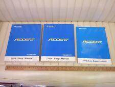 2006 HYUNDAI ACCENT Factory Shop Service Manual Set 3-Volume w/ Body Repair NR