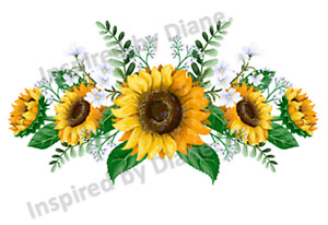 Clear Wall & Furniture STICKER Extra Large A3 /Cut & Stick/ Sunflowers  /911