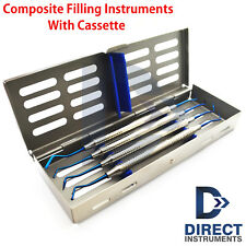 Dental Titanium Blue Amalgam Composite Filling Instrument Sterilization Cassette