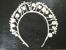 Vintage Flower Beaded Handmade Wedding tiara Headdress