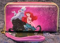 Disney Designer Fairytale Doll Collection Ariel & Ursula Smartphone Wallet New!