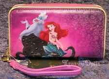 Disney Designer Fairytale Doll Collection Ariel & Ursula Smartphone Wallet New!