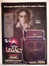 Steve Vai Legacy Amplifier PRINT AD - 1999 ~~ Carvin amp