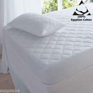 """Hotel Quality Extra Deep 16"""" or 10"""" 200TC Egyptian Cotton Mattress Protector"""