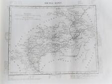 05 Hautes Alpes gravure carte géographique Tardieu 1840 (1c)