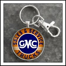 New ListingVintage Gmc Truck Sales Service Sign Photo Keychain Gift �