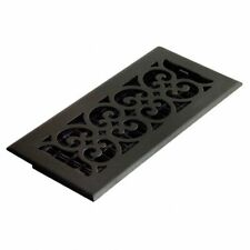 DECORATIVE ORNATE HEATING air floor black VENT WALL GRATE 4x10 new  scroll cover