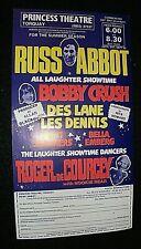 More details for russ abbot show. 1981 original handbill. flyer. princess theatre torquay