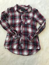 Rails Hunter Red Plaid Button Up Shirt Blouse Size Small