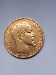 Monnaie de 20frs  francs or Napoléon III 1854 A