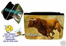 portefeuille taureau  personnalisable avec prénom réf 15