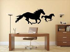 HORSES Galloping Home Vinyl Wall Decal Bedroom Graphics Sticker Decor