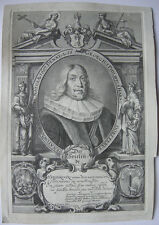 Georg Ph. Harsdörffer Deutscher Barockdichter Nürnberg 1650 Orig Kupferstich