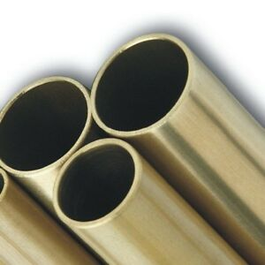 BRASS ROUND TUBES - Grade CZ126 - various wall thickness, diameters and length