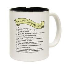 Funny Mugs - Rules For Dating My Son - Joke Family NOVELTY MUG secret santa