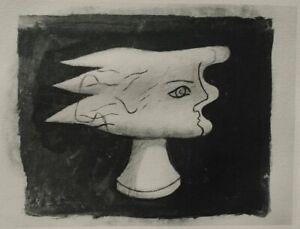 Georges BRAQUE : Le visage - GRAVURE signée, 1950