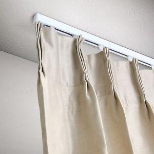 5 ft Curtain Track Kit - White Ceiling Mount