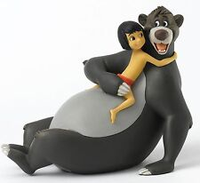 Disney Enchanting Bare Necessities Mowgli Baloo Figurine Jungle Book 13cm A27148