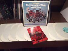 "JOSEPH MACHLIS The Enjoyment Of Music Fourth Edition 10x12"" BOX SET W BOOK *RARE"