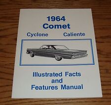 1964 Mercury Comet Cyclone Caliente Facts Features Manual Brochure 64