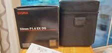Sigma DG 50mm f/1.4 HSM DG EX ASP Lens For Canon(Excellent condition)